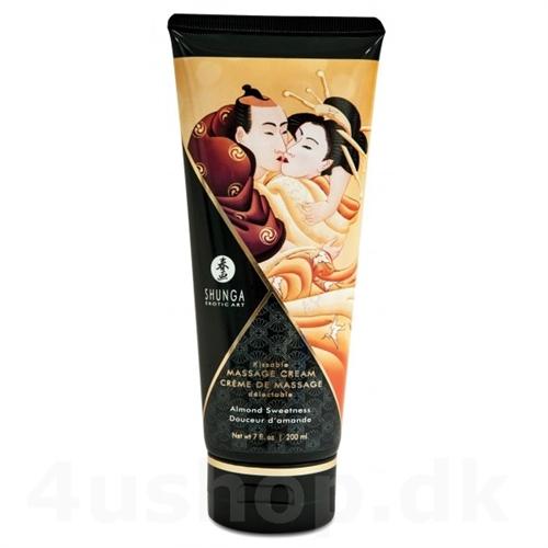 massagecreme fra shunga som endda kan spises - lækker smag og perfekt til intim erotisk massage
