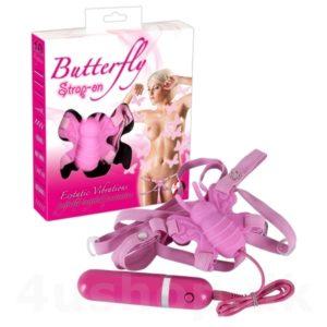 Strap-on butterfly vibrator